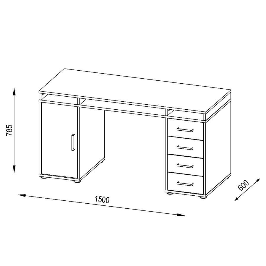 Magic Schreibtisch Ix Schreibtisch Ix Magic PlatingrauAlpinweiß 0P8kXwOn