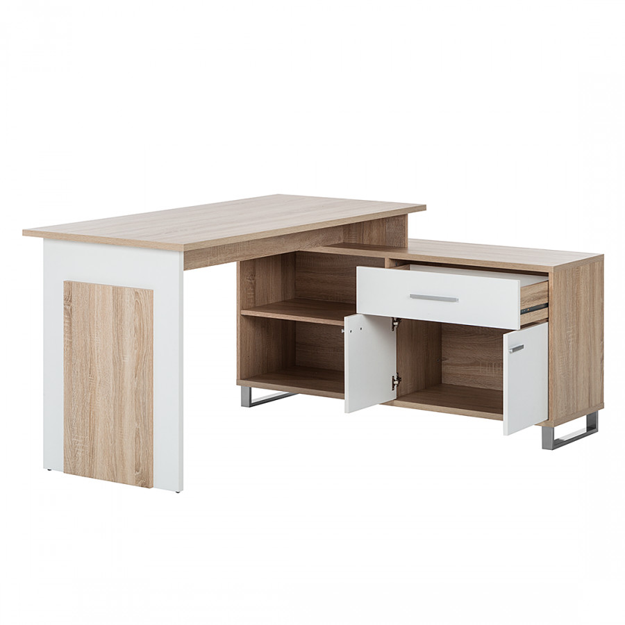 Schreibtisch weiß Dekor Maxim Sonoma Eiche 5R4jL3A