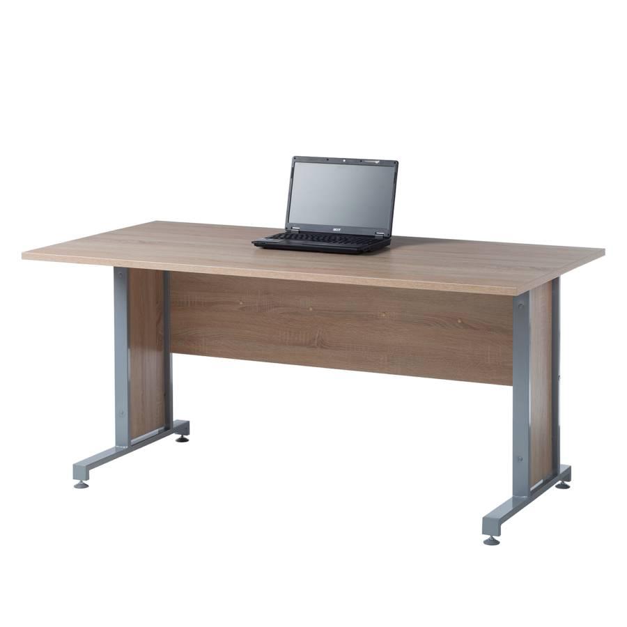 Schreibtisch DekorSilber160 X Cm Merit 80 Sonoma Ii Eiche QCxBohrdts