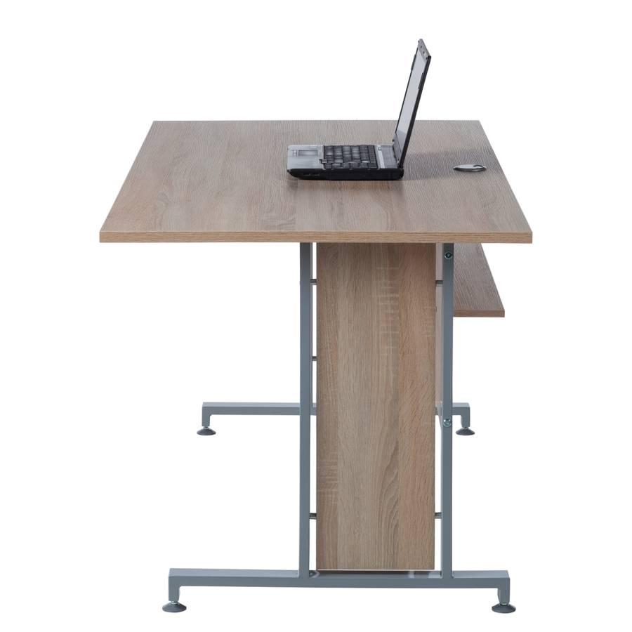 Sonoma Schreibtisch Merit Ii 80 X DekorSilber160 Eiche Cm 9e2YDIEWHb