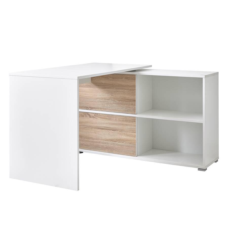 Schreibtisch Mingle   Weiß/Eiche Sonoma Dekor