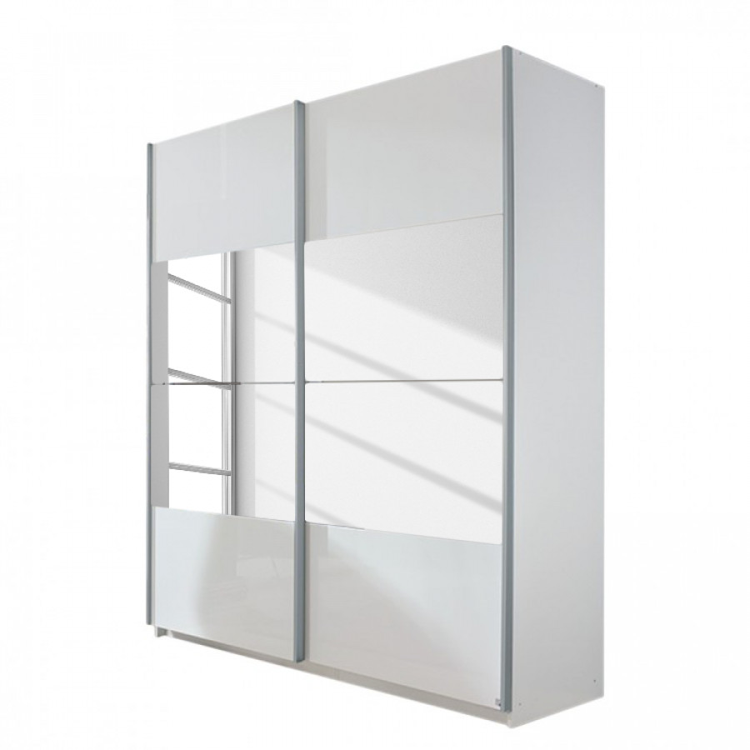 Kleiderschrank weiß hochglanz 2 türig  Jetzt bei Home24: Schwebetürenschrank von Rauch Select | home24