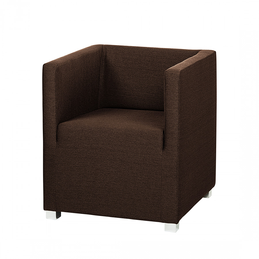 Donker Bruine Fauteuil.Fauteuil Carmen Donkerbruine Stof Home24 Nl