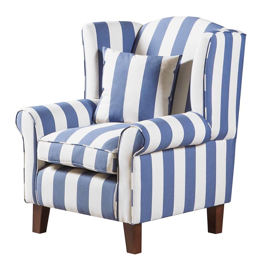 GestreiftMit Colmar Webstoff Sessel Hocker Blau k0OP8nw