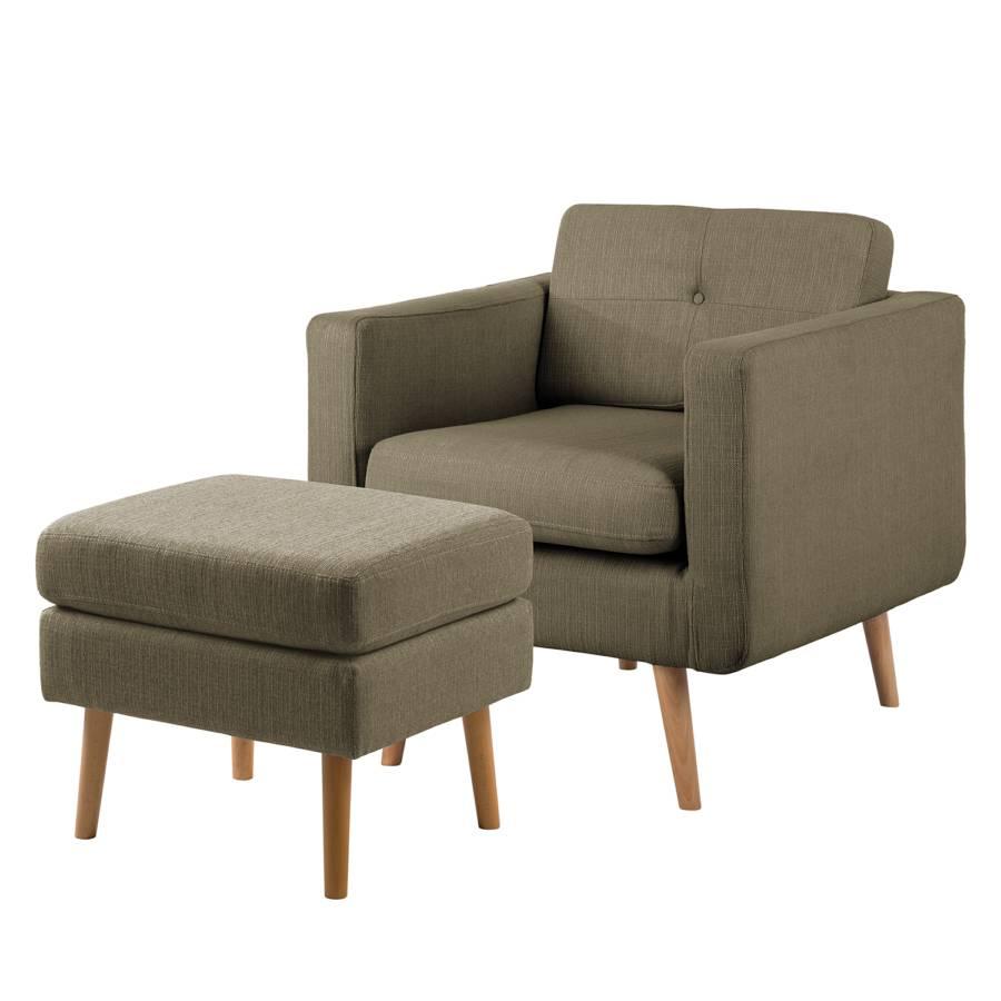 Sessel CroominklHockerWebstoff Sessel BraunMit Hocker CroominklHockerWebstoff Hocker BraunMit 2IWE9DH