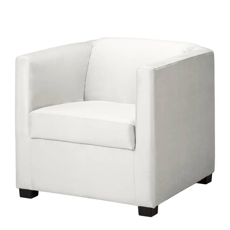 Entzückend Schmaler Sessel Beste Wahl Richmond - Kunstleder - Weiß
