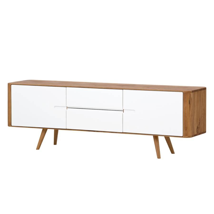 Wonderful Sideboard Loca I   Wildeiche Massiv   Weiß / Wildeiche   180 Cm