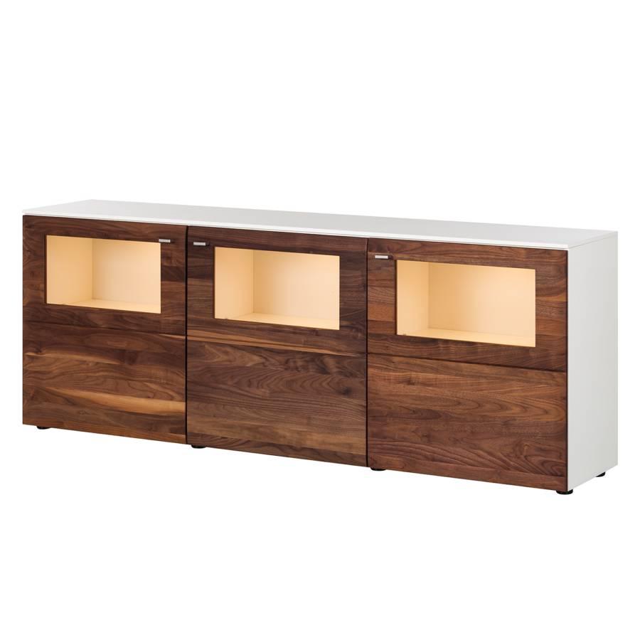 Sideboard Ii NussbaumWeißMit Beleuchtung Solano Ii Sideboard Sideboard Solano NussbaumWeißMit Beleuchtung Solano WHEeD9bY2I