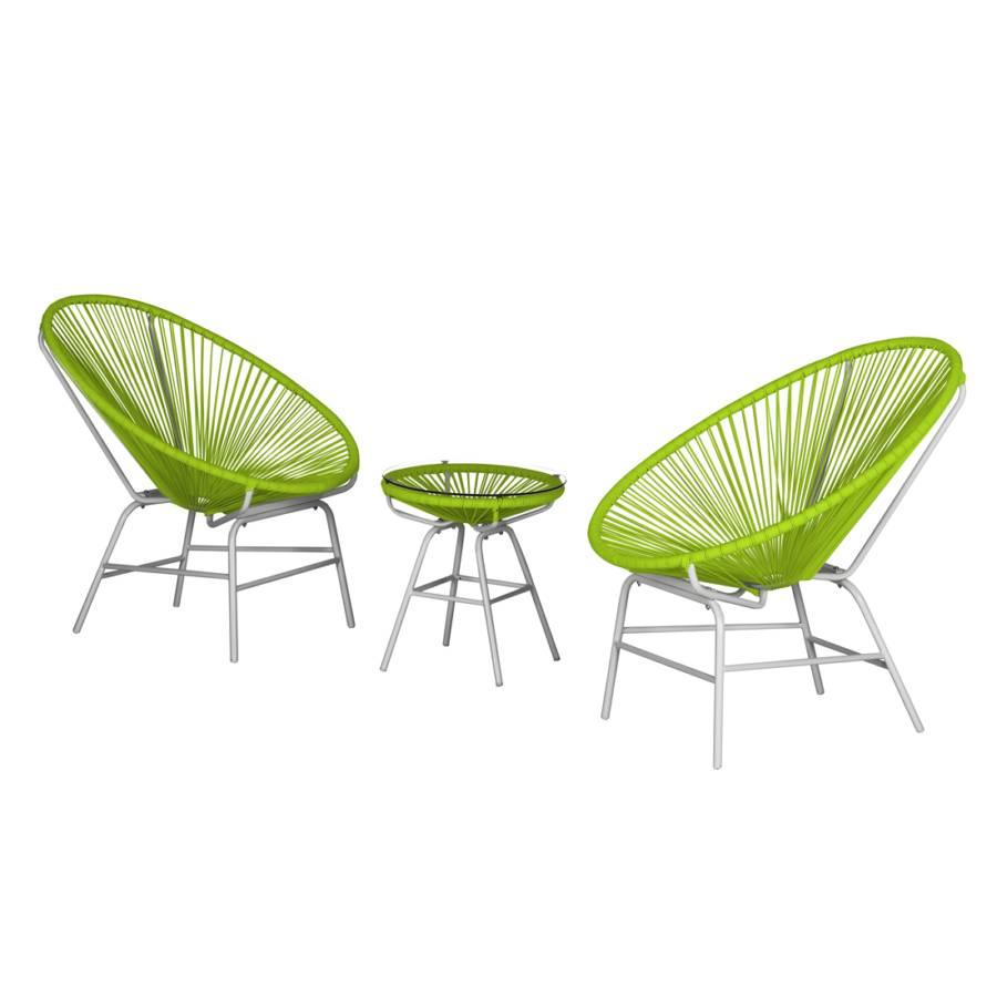 Charmant Sitzgruppe Copacabana I (3 Teilig)   Kunststoff   Grün / Weiß