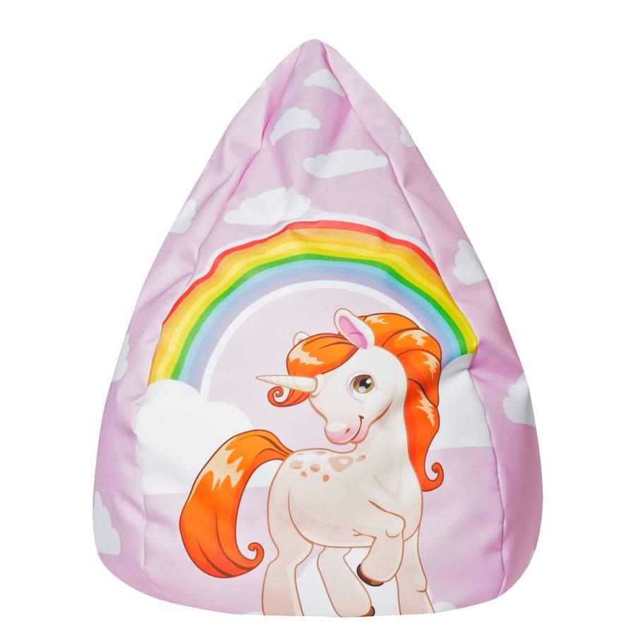 Beanbag Sitzsack Beanbag L Unicorn Sitzsack WebstoffRosa WEDH92I