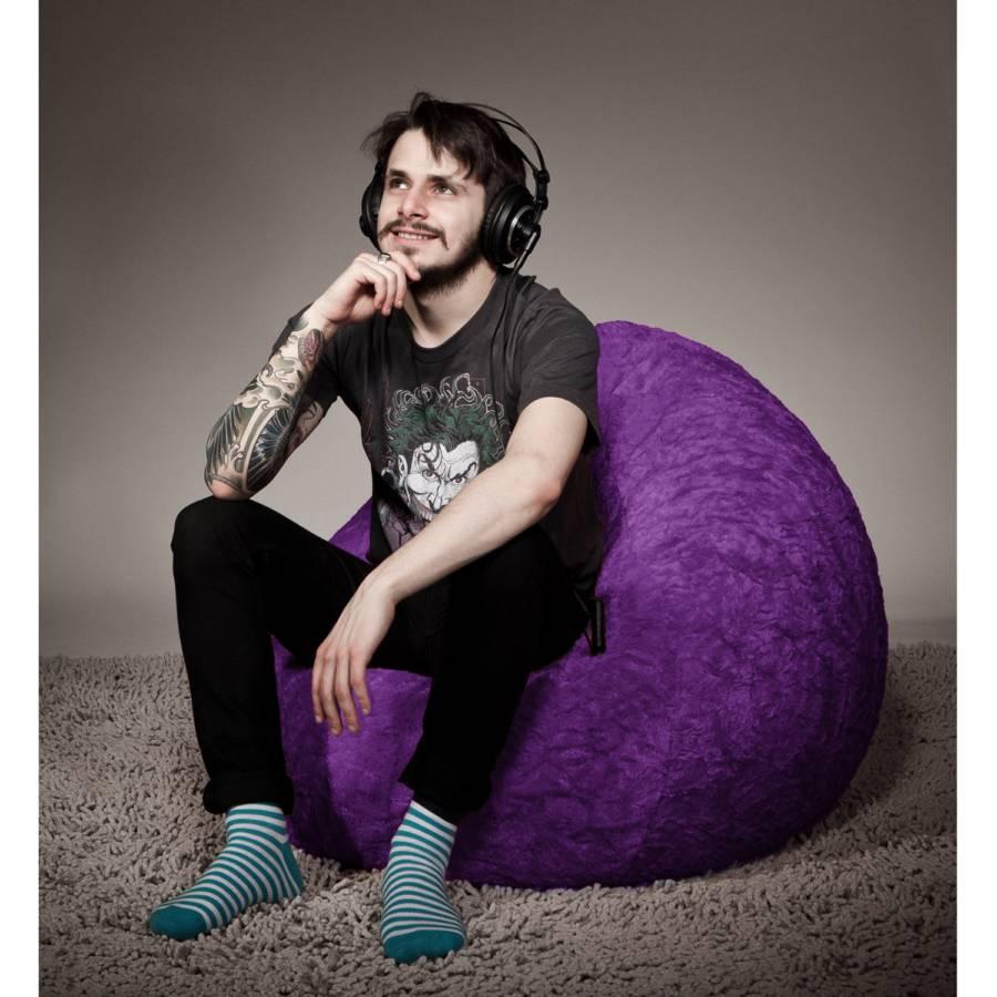 Xl Fluffy Sitzsack Xl Violett Fluffy Sitzsack cl1JTFK