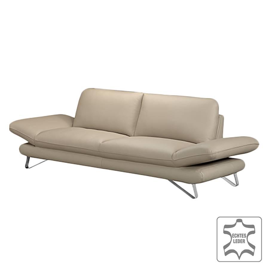 Sofa Enzo 2 5 Sitzer Echtleder Beige