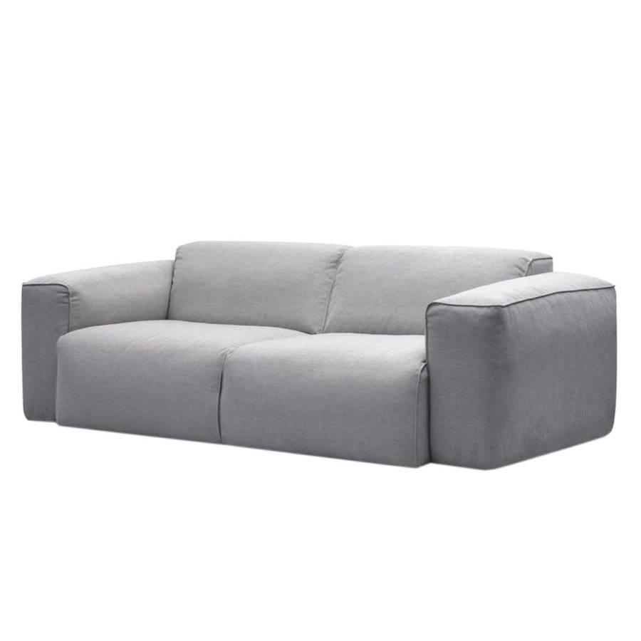 Sofa Hudson (2 Sitzer) Webstoff   Stoff Saia Hellgrau