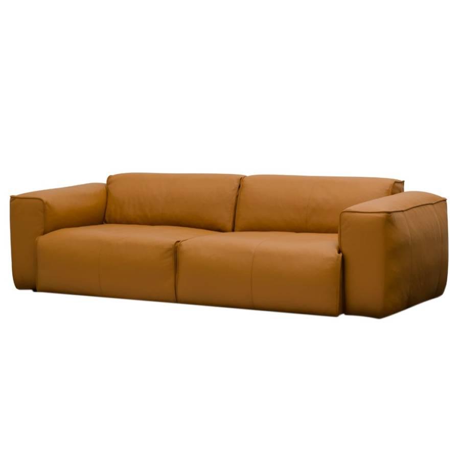 Sofa Hudson II (3 Sitzer) Echtleder   Echtleder Neka: Cognac