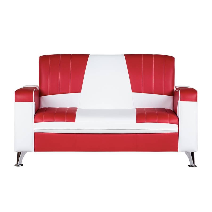 Nixa2 Sofa weiß sitzerKunstleder sitzerKunstleder Nixa2 weiß Rot Sofa Rot wPOkn80X
