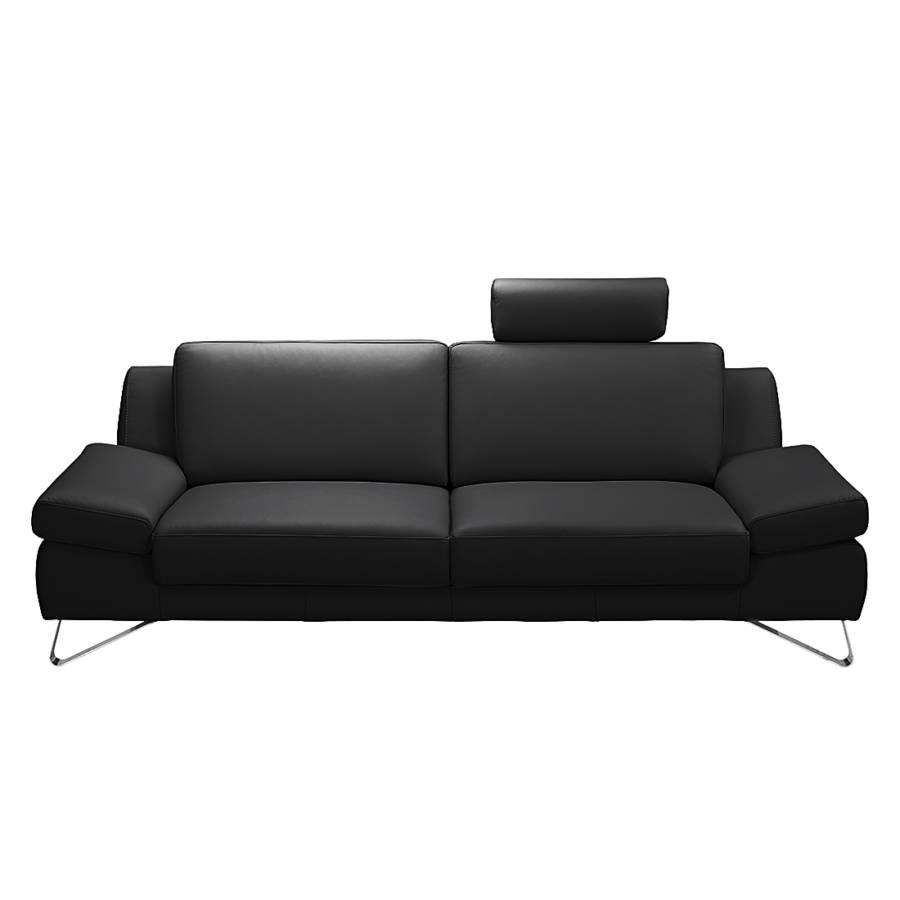 Silvano2 SchwarzKopfstütze 5 sitzerKunstleder Sofa Verstellbar I9E2WYDH