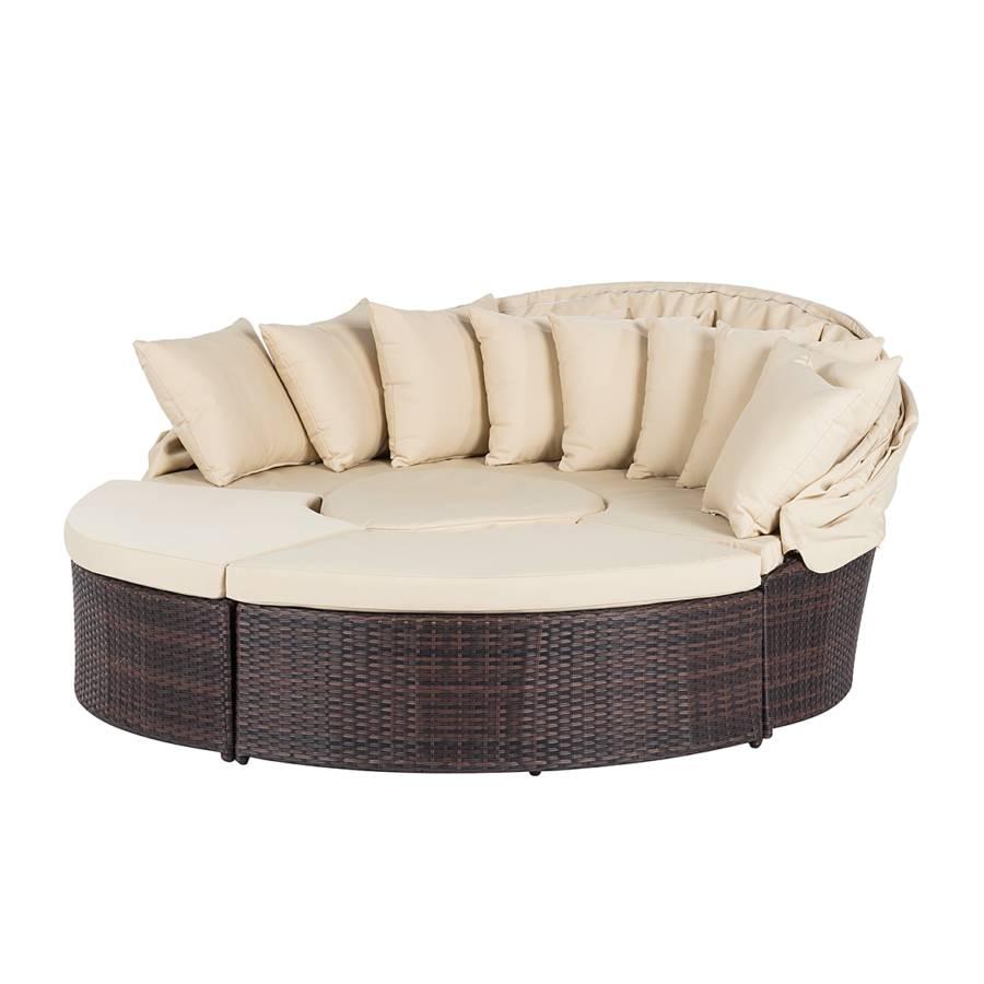Premium Cadre Lounge Salon En Aluminium De Jardin MarronBeige ModulablePolyrotin Paradise tsQBhxrdC