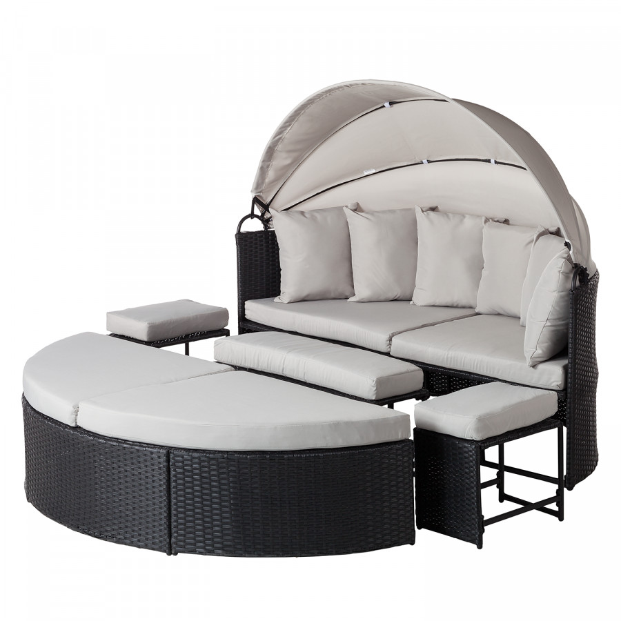 Sonneninsel  Sonneninsel Paradise Lounge - Webstoff / Polyrattan | home24