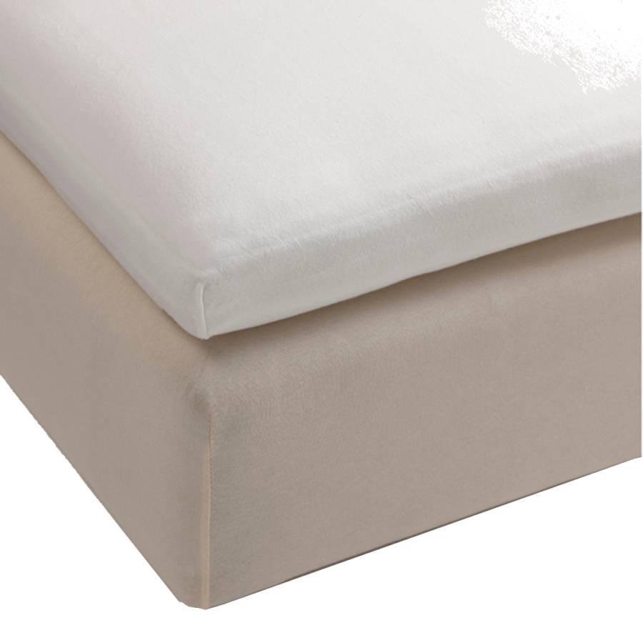 Spannbettlaken topper Topper Abmessungen WeißBaumwolle Jersey 200x90x35cm Cremeweiß sQhdxtrC