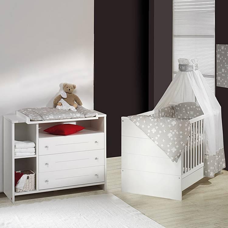 Babyzimmer Eco Stripe (2 Teilig)   Weiß