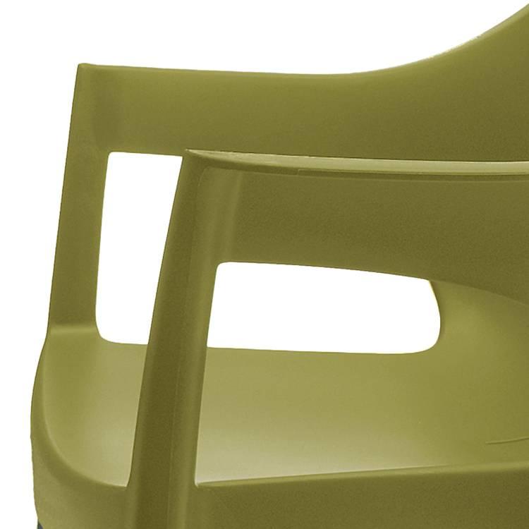 Empilables Polelot Chaises Chrome Olive Couleur 2PlastiqueAluminiumVert De QdExeWroCB