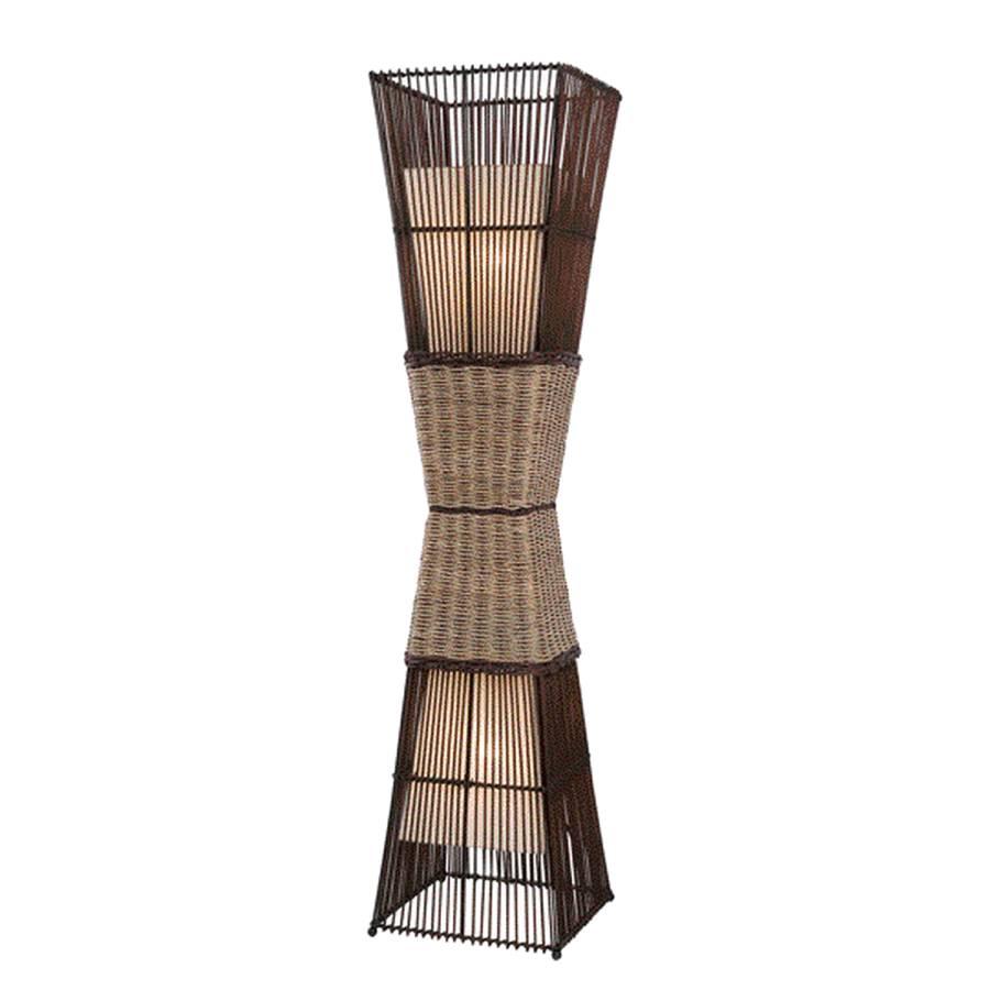 I Bambou2 Bamboo Lampadaire TissuTressage Ampoules kZiOXuTP