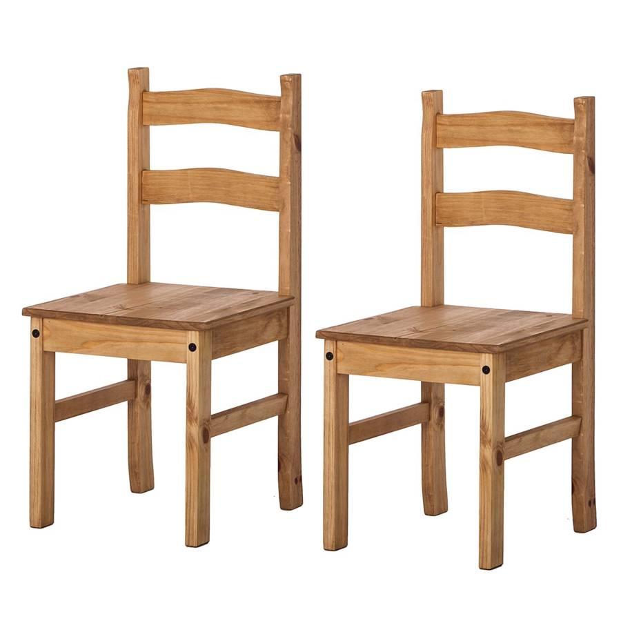 Rustica2er MassivGewachst Stuhl Finca Stuhl setKiefer XwPTZuOki