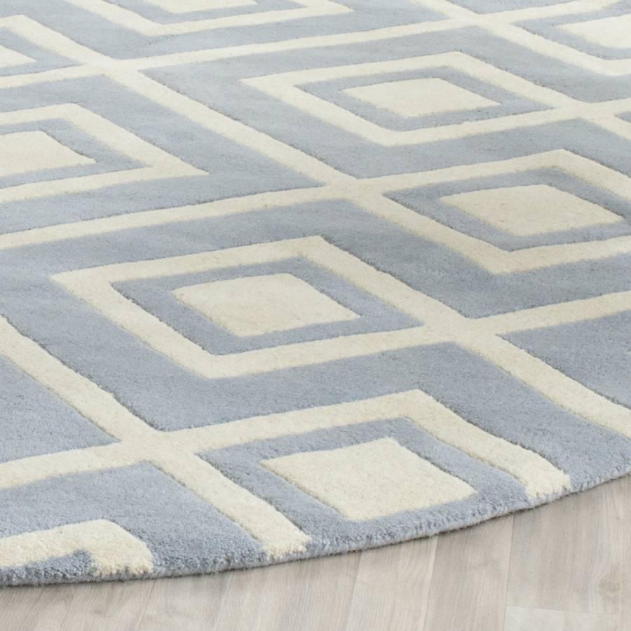 244 Sloane Teppich Cm creme153 X Blau 9IEDH2