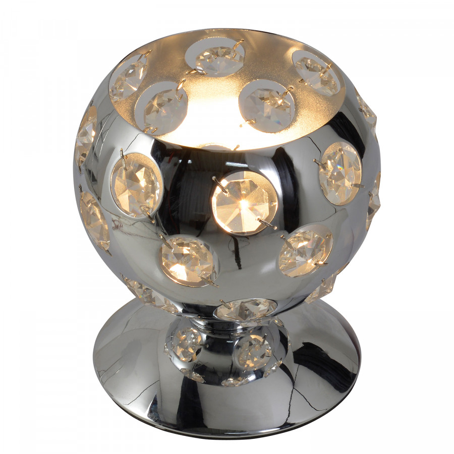 Metall Tischleuchte kunststoffSilber 1 Diamond Näve flammig By TJF1lcK