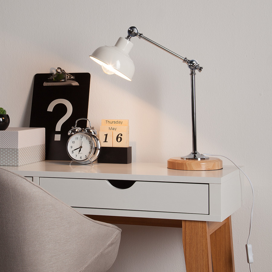 Lampe Table Ampoule De Trent FerPin Massif1 D29EIH
