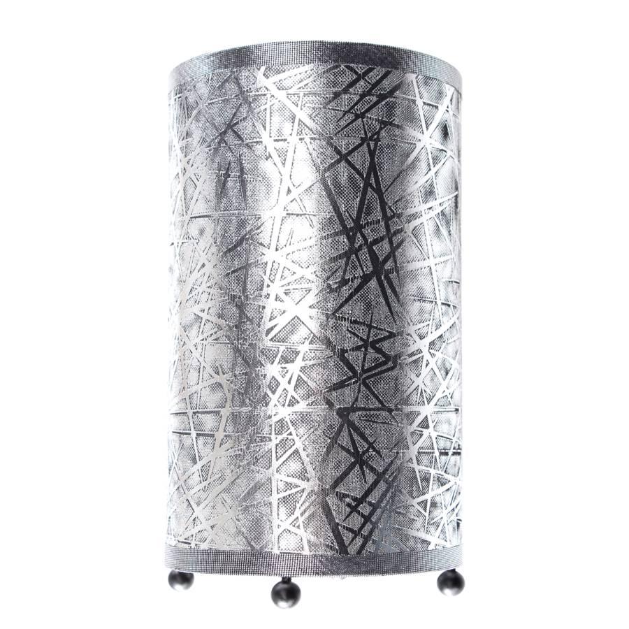 Stoff 1 Tischleuchte By Näve flammig metallSilber Zylindro qSVGLMpzU