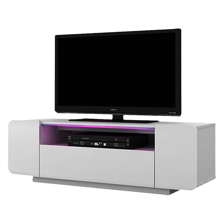 jahnke tv lowboard TV-Lowboard CU-Culture 130 - inkl. Beleuchtung - Hochglanz Weiß