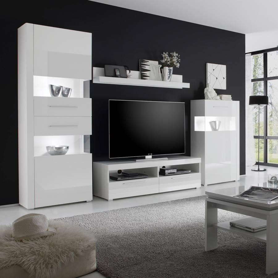 Hochglanz Tv I lowboard Liminka Weiß N80nvwmO