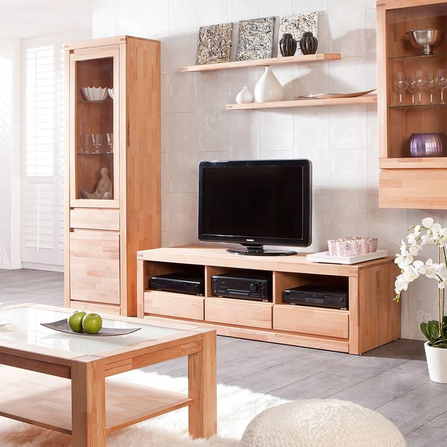 De Bas Merle Hêtre Naturel Tv Huilé174 Meuble Duramen Cm L45A3Rjq