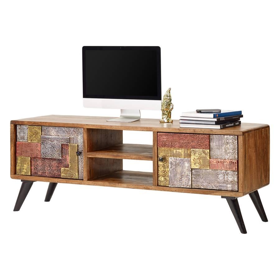Lowboard Tv Kast.Tv Meubel Orient Massief Acaciahout Metaal Home24 Nl