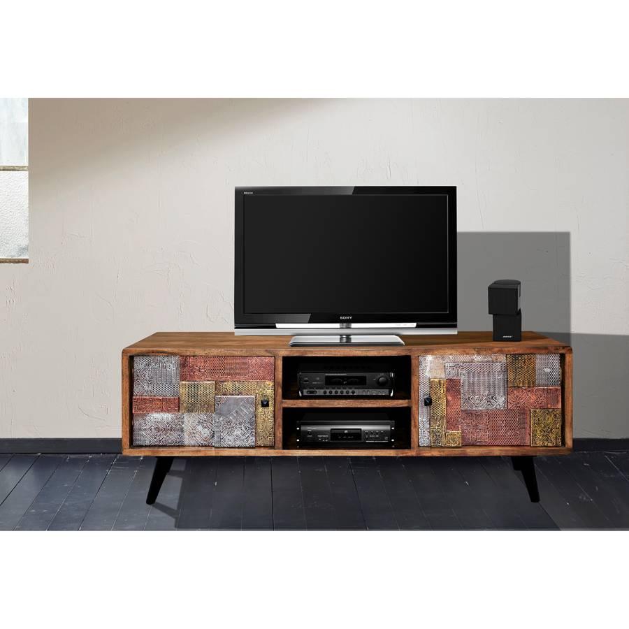 Akazie Tv Orient MassivMetallMehrfarbig lowboard Tv n8wN0m