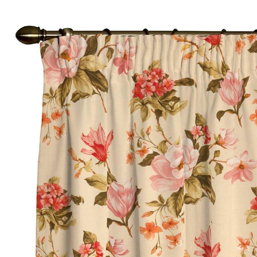Vorhang mit blumen zuhause image idee - Home24 gardinen ...