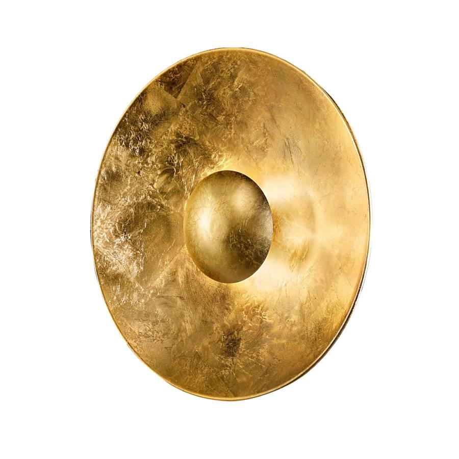 Aura flammig MetallGlas4 Wandleuchte Sol Gold N80nOkXwP