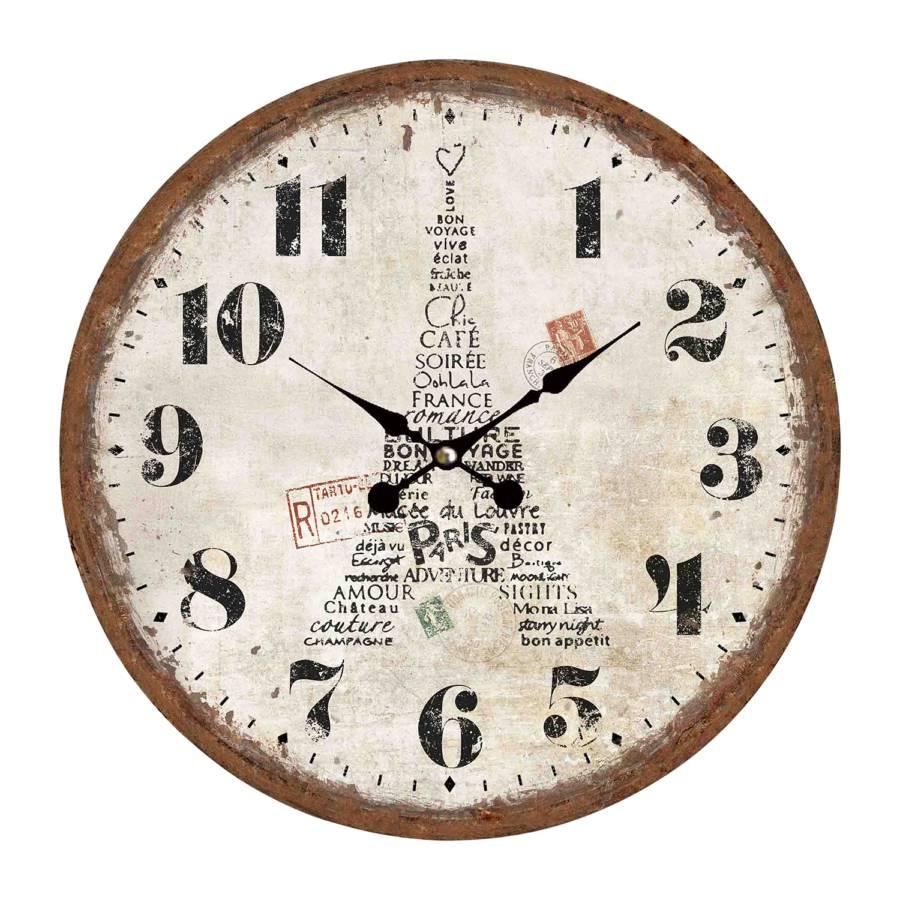 Windau Horloge Murale Horloge Horloge BeigeMarron Windau Murale BeigeMarron QdhCsrxt