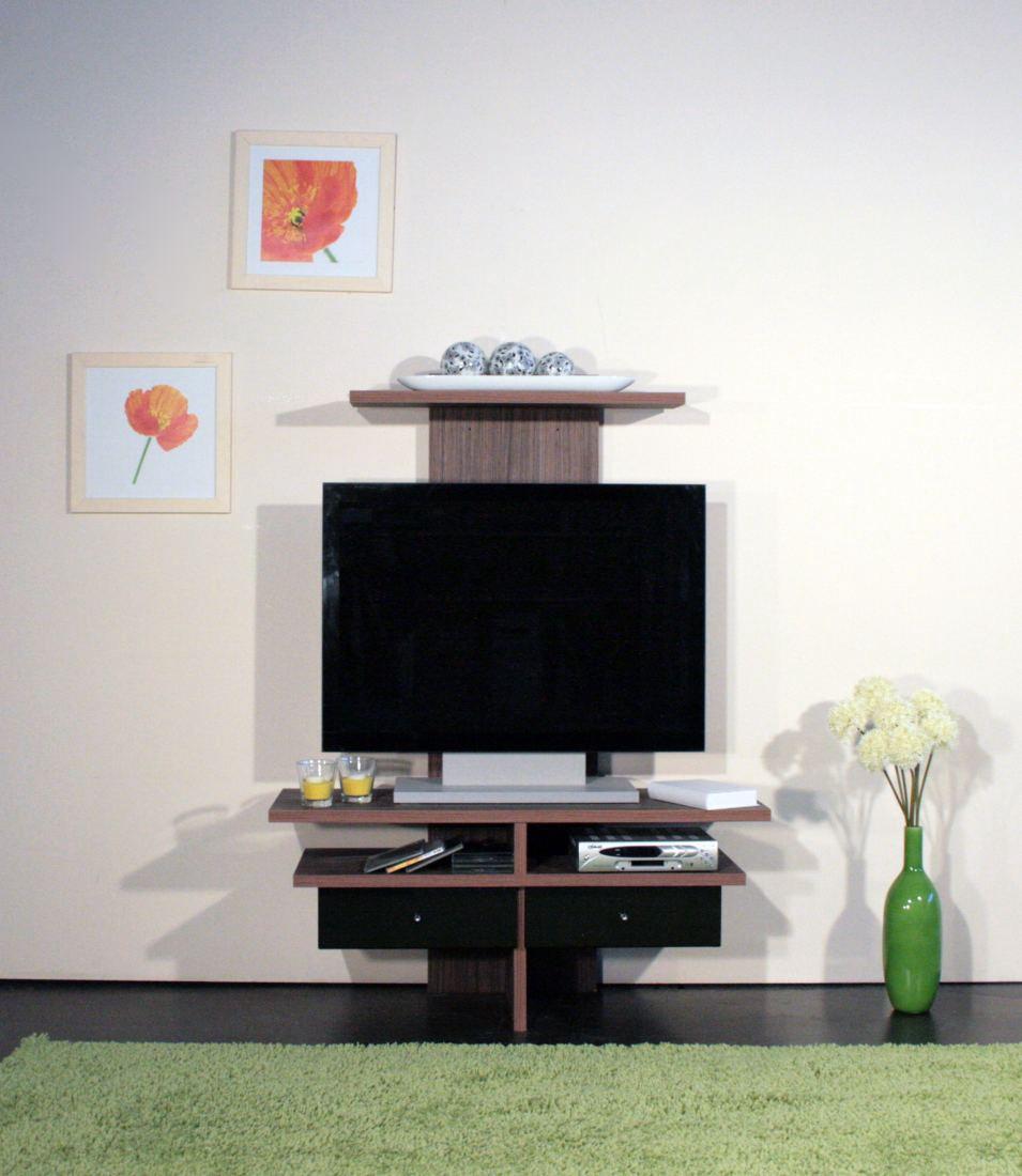 TV-Rack Richard - Braun / Schwarz, mooved