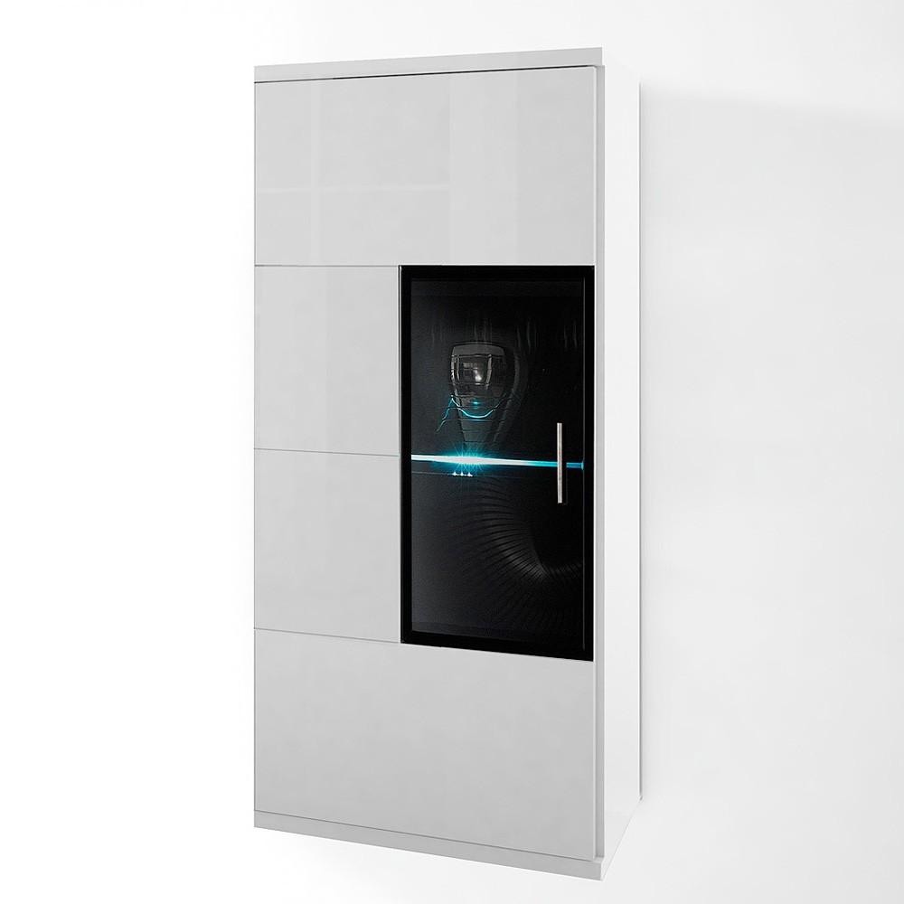 Armoire Corana - 1 porte vitrée - Sans éclairage, Fredriks