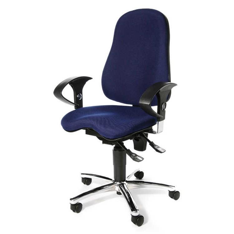 Bürodrehstuhl Sitness 10 - mit Orthositz - Blau, Topstar
