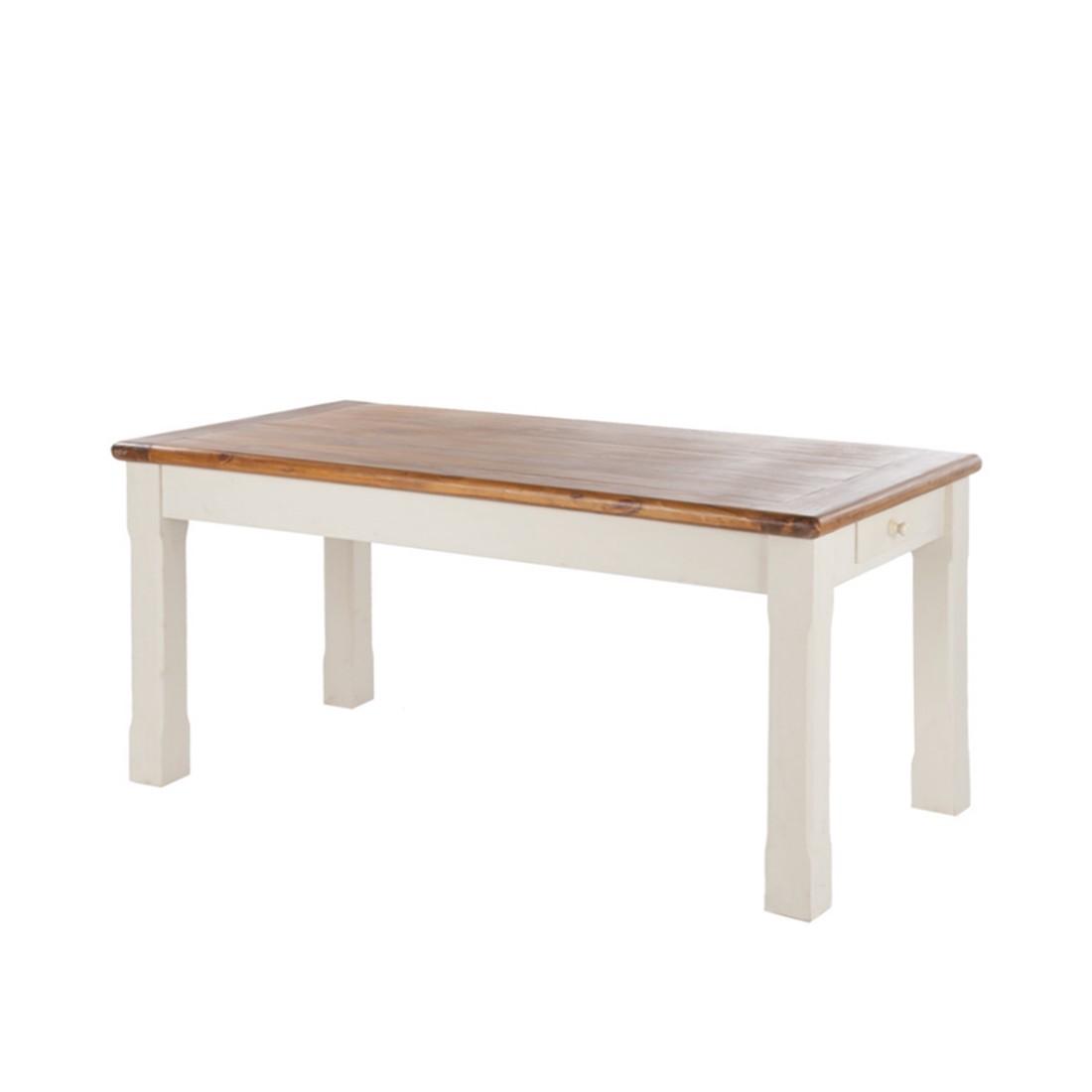 Table de salle à manger Boddo - Blanc, Ridgevalley
