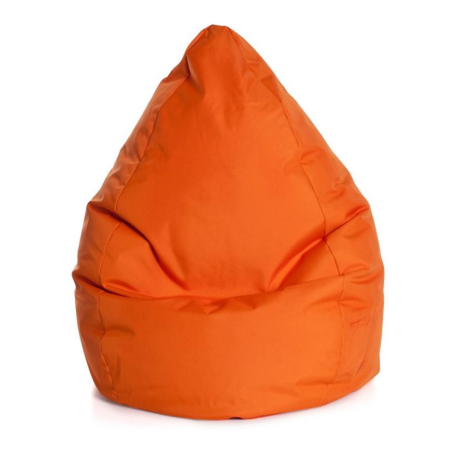 SITTING POINT Beanbag Brava Orange Flachgewebe 70x90x70 cm (BxHxT)