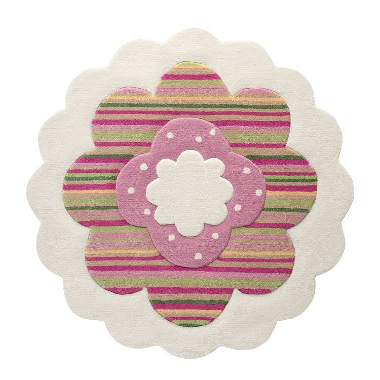 home24 Teppich Flower Shape