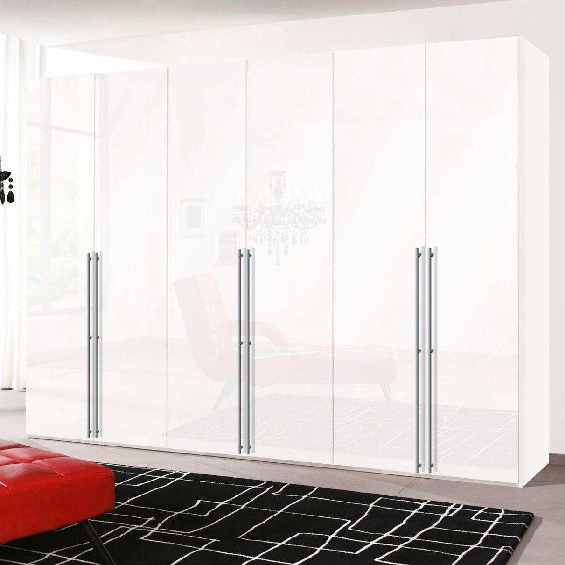 goedkoop Draaideurkast Brooklyn XII poolwit wit gelakt 300cm 6 deurs 216cm Express Mobel