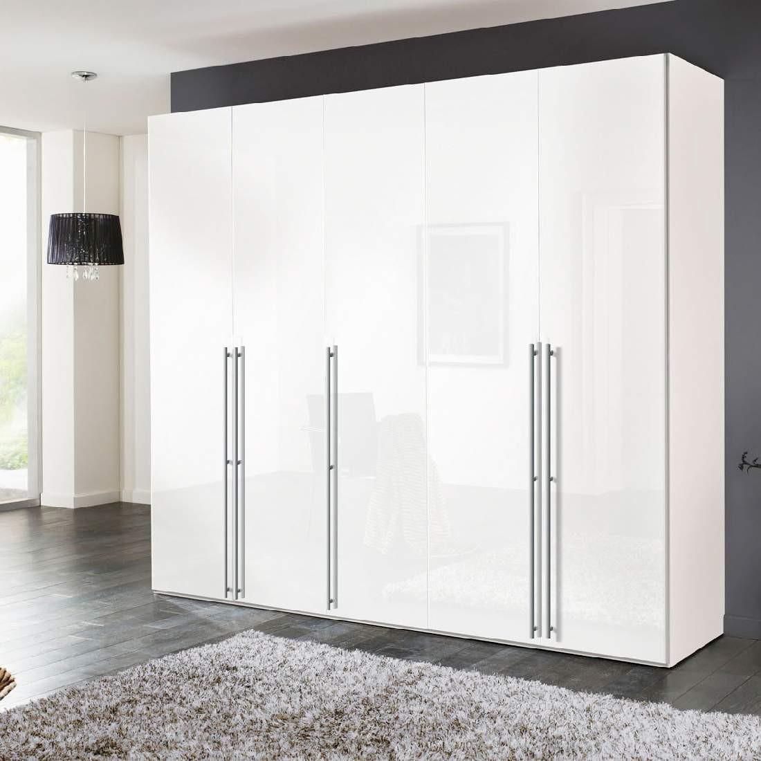 goedkoop Draaideurkast Brooklyn XII poolwit wit gelakt 250cm 5 deurs 216cm Express Mobel