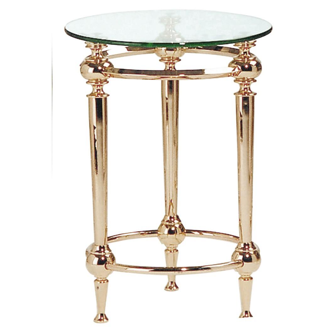 tavolino Bianka I - Acciaio dorato/Vetro con bordi sfaccettati, Home Design