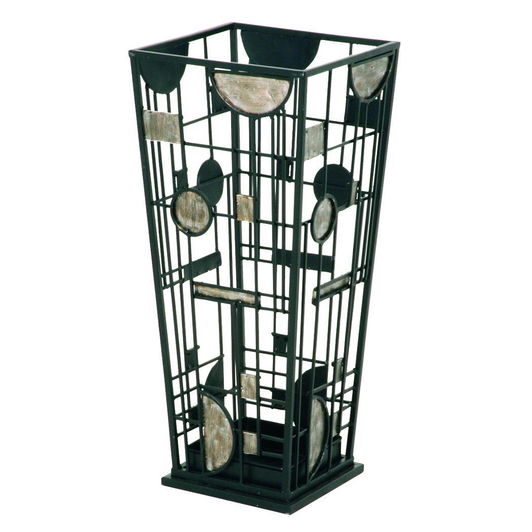 Image of Portaombrelli Anaco - Telaio in metallo nero, Home Design