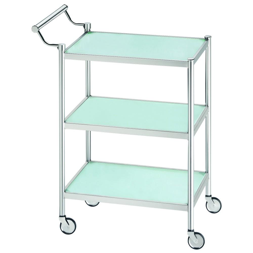 home24 Servierwagen Carsten | Küche und Esszimmer > Servierwagen | Silber | Glas - Metall | Home Design